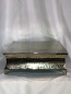"""15"""" Square Silver Hammered Cake Plateau Rental"""