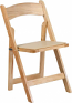 Natural Wood Folding Chair Rental