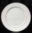 "Platinum Rim Dinner Plate 10.5"" Rental (20/Rack)"