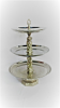 Silver 3 Tiered Serving Tray Rental