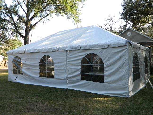 20 Ft. Tent Wall With Windows Rental & Mobile Popcorn and Party Rentals