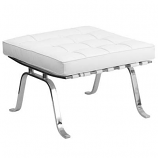 White Leather Ottoman Rental