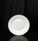 "White Round 8.25"" Salad Plate Rental (20/Rack)"