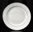"Platinum Rim Salad Plate 8.25"" Rental (20/Rack)"