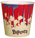 Popcorn Bucket, 170oz. Red- 150/Case