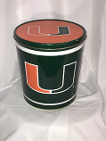 3.5 Gal Miami Hurricanes Popcorn Tin