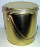1 Gal Gold Popcorn Tin