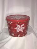 2 Gal Red Snoflake Popcorn Tin