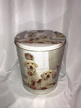3.5 Gal Lab Puppies Popcorn Tin