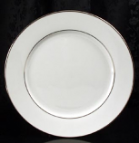 "Platinum Rim Dinner Plate 10.5"" Rental (20/Rack)"