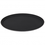 "27"" Black Oval Tray (for Tray Jack) Rental"