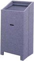 Grey Podium with Microphone Holder Rental