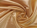 "120"" Gold Bridal Satin Linen Rental"