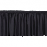 10' Black Stage Skirting Rental