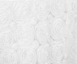 90x90 White Satin Rosette Topper Rental