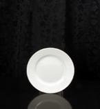 """White Round 6.5"""" Dessert Plate Rental (20/Rack)"""