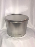 2 Gal Solid Silver Popcorn Tin