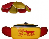 Small Hot Dog Steamer W/ Umbrella Rental