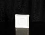 White Square Saucer Rental (20/Rack)