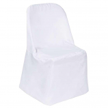 Universal White Polyester Chair Cover Rental