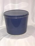 2 Gal Solid Blue Popcorn Tin