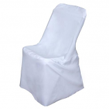 White Polyester Chair Cover Rental