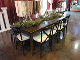 8 Ft. Fruitwood Farm Table Rental