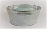 Silver Galvanized Bucket Rental