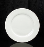 "White Round 10.5"" Dinner Plate Rental (20/Rack)"