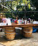 8 Ft. Whiskey Barrel Bar Rental