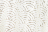 "120"" Ivory Mermaid Scales Sequin Linen Rental"